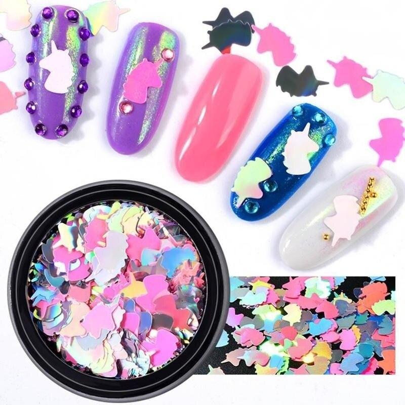 2 предмета лак для ногтей DIY Красота корабль ногтя украшения для ногтей с блестками