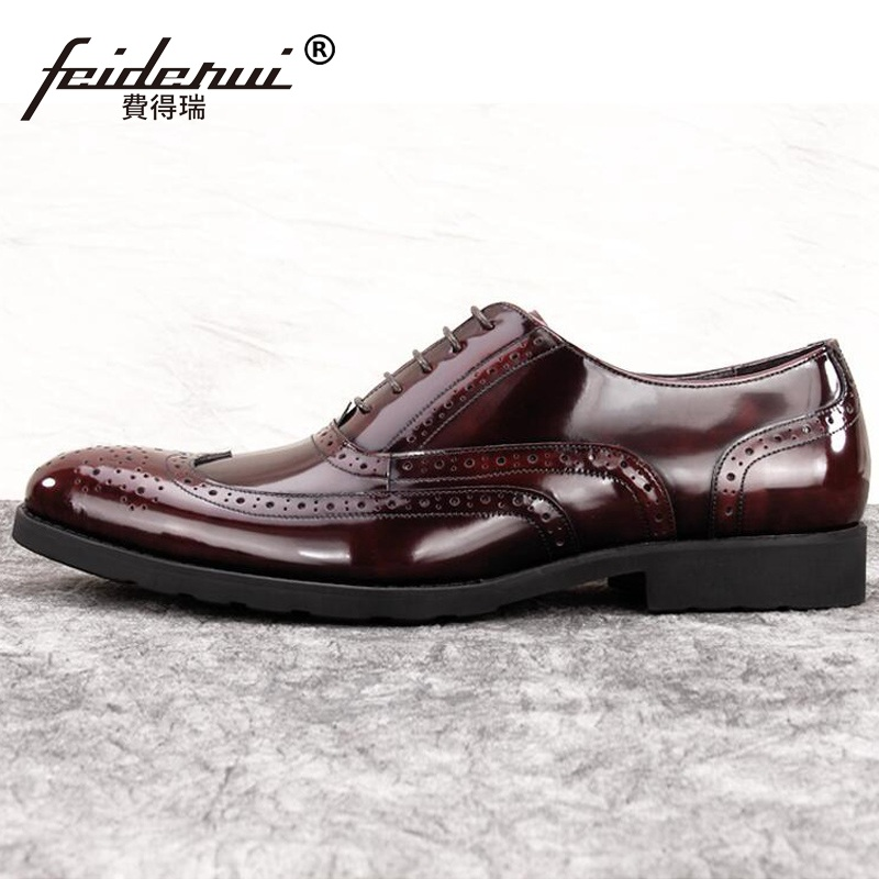 f8402750980a RUIMOSI Vintage Brand Man Brogue Oxford Shoes Male British Designer Genuine  ... New Style Handmade Men Boots with Geometric Pattern Fashion Party and  Prom ...