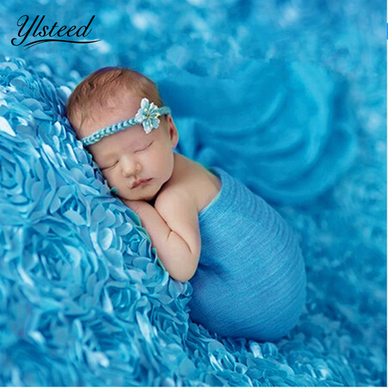 3D Newborn photography props rose blankets baby photography flower blankets 65*95cm / 130*95cm