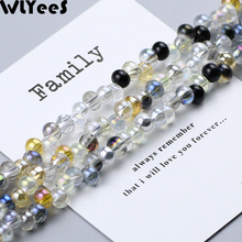 WLYeeS 4*6mm Austrian Earrings pendant ball crystal bead AB Color Round glass Loose Spacer Beads for Jewelry Necklace Making DIY