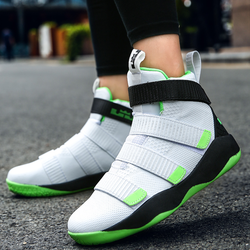 2018 Men Basketball Shoes for Outdoor High Top Brand Ankle Boost Men & Women Sports Shoes Basket Homme Trainer Couple Sneakers feozyz 2017 new women men basketball shoes high top sneakers breathable soldier basketball shoe sport basket homme size 36 45