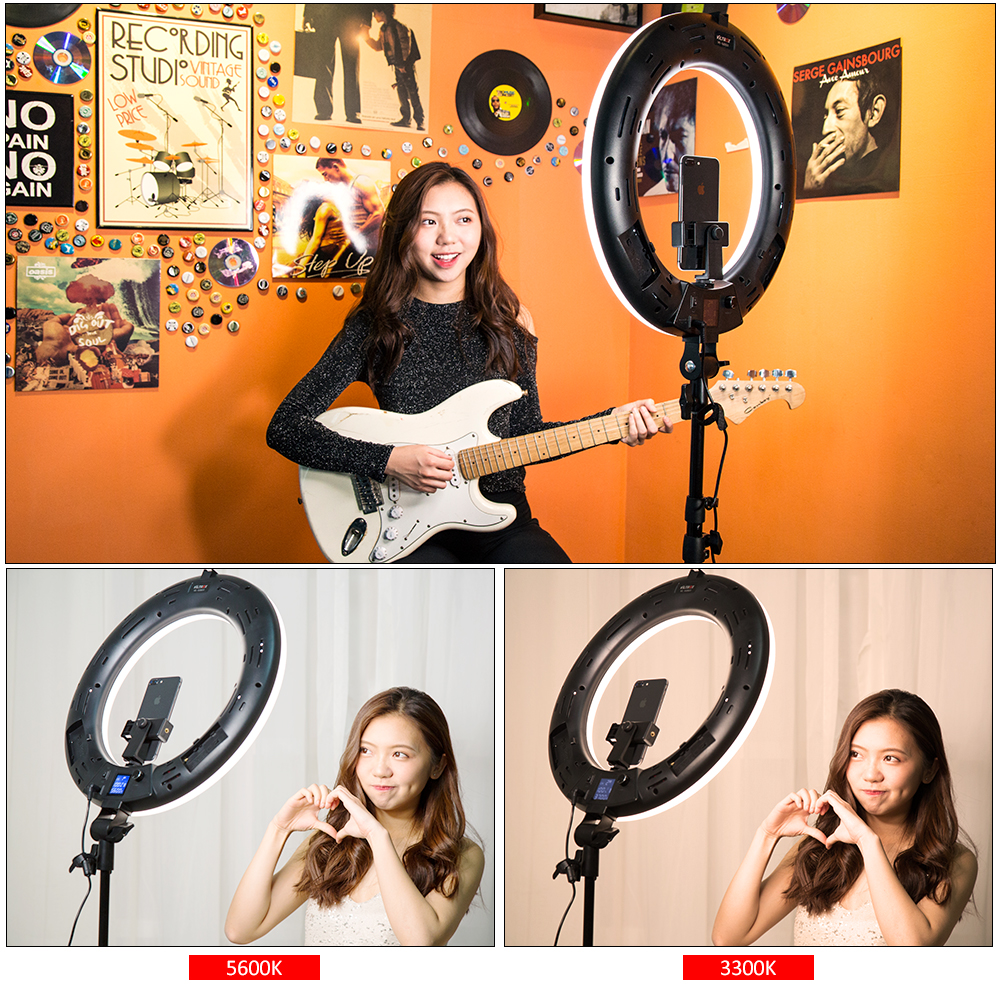 Viltrox VL-600T Wireless remote LED Ring light 3300K~5600K for camera photo shooting Studio YouTube Video photography Live lamp