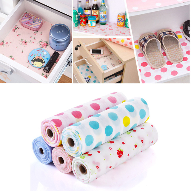 Kuke Shelf Paper Drawer Liner Kitchen Cabinet Liners Table Decoration Waterproof New Mat
