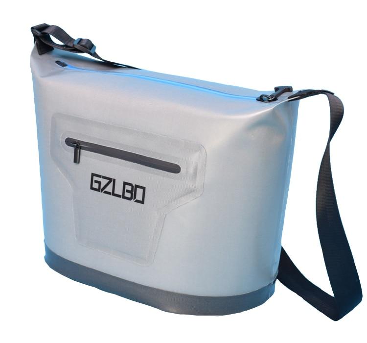 Style classique 30 canettes grand sac isotherme gris sac isotherme extérieur congelé pendant 48 heures sac isotherme de réfrigération continue