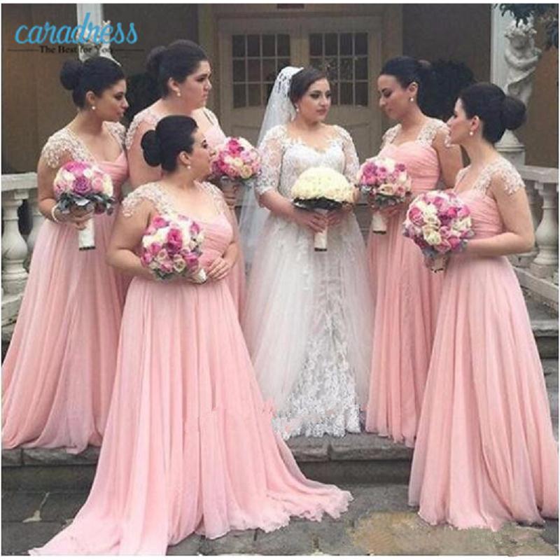 Amazing Long Pink Bridesmaid Dresses 2017 Sweetheart Floor Length A ...