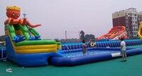 Надувной для скольжения по воде Бассейн надувная вода комбинация Забавный надувной аквапарк