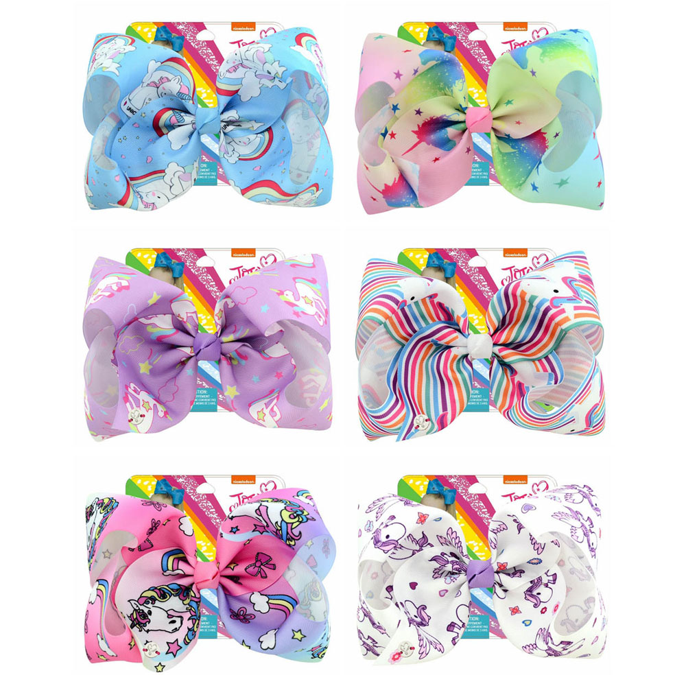 Hairpin Large Hair-Accessories Unicorn-Collection Jojo Girls Coral Colorful Siwa 8inch-1pcs