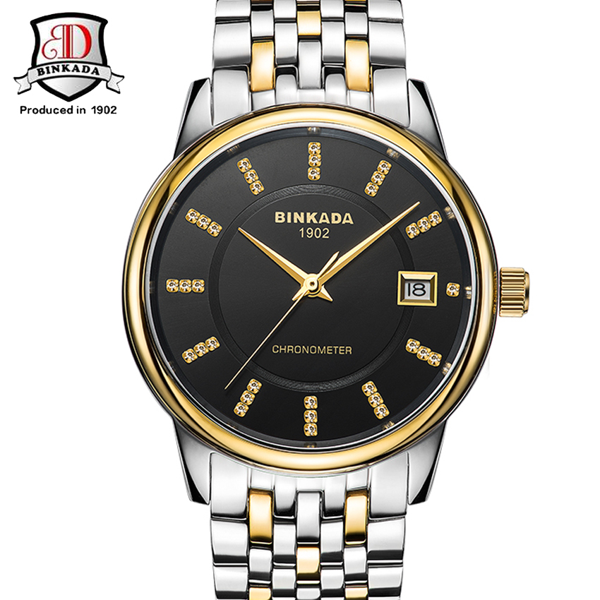 New Mens Watches Mechanical Watch Resistant Clock Stainless Steel Business Luxury Watch relojes hombre недорго, оригинальная цена