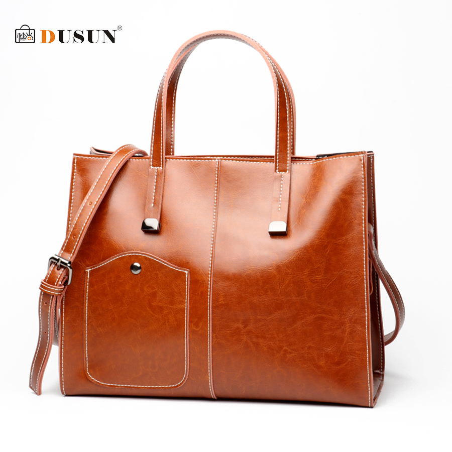 DUSUN 100% Genuine Leather Bag Women  Casual Handbag Retro Fashion Big Shopping High Quality Cross Bags FemaleDUSUN 100% Genuine Leather Bag Women  Casual Handbag Retro Fashion Big Shopping High Quality Cross Bags Female