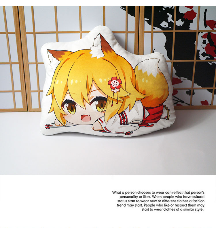 Plush Doll Anime sewayaki Kitsune no Senko-San Senko Fox Tail Oreiller