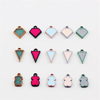 Wholesale 100PCs Cute Colorful Enamel Alloy Small Charms Oil Drop Taingle Animal Bear Metal Jewelry Bracelet
