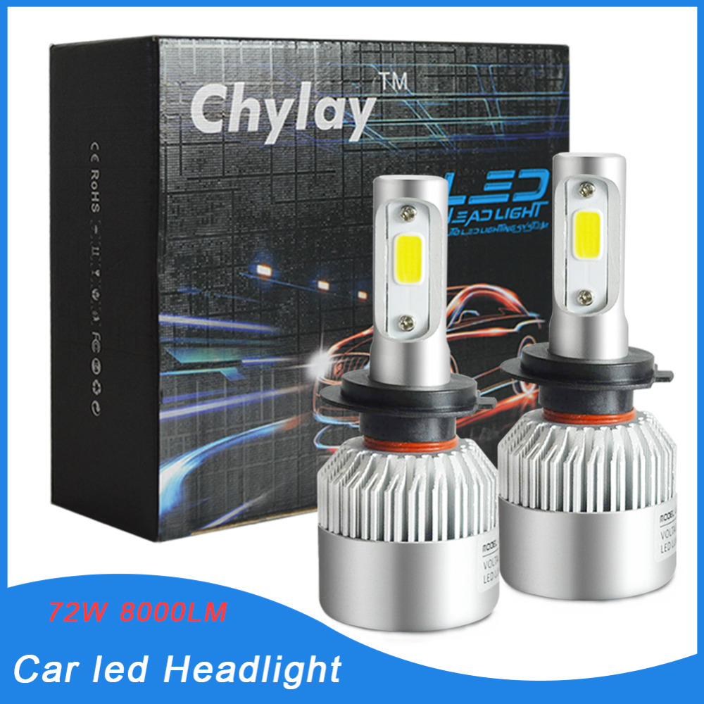 Super Bright LED Car Headlight H7 bulb 6500k Xenon White Auto Front Headlamp light Fog Lamp Car Styling Lighting 12V 24V 2x h3 9 led smd car auto xenon white fog driving head light lamp bulb 6500k car styling lights lamp automoblies