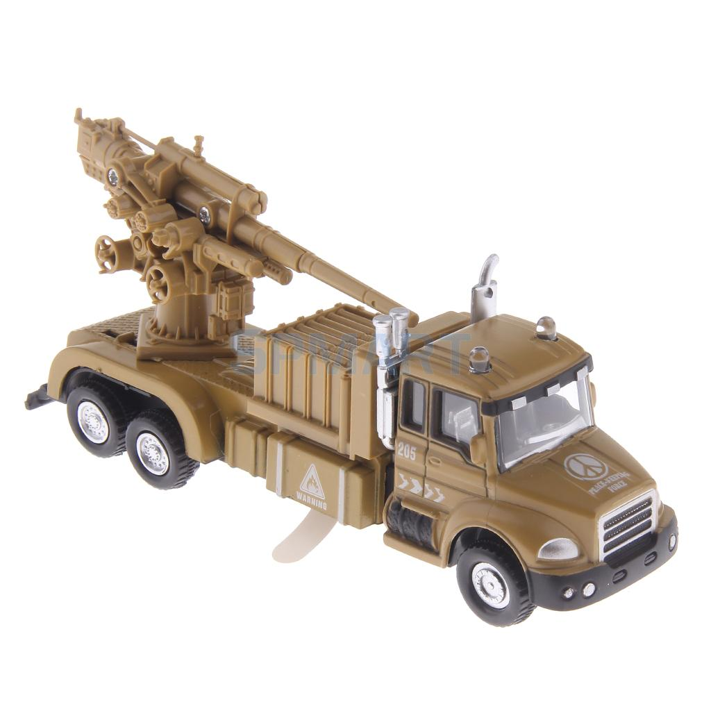 Mini Peace Keeping Force Military Artillery Car Die-cast Vehicle Model Toy Kids Gift with Sound