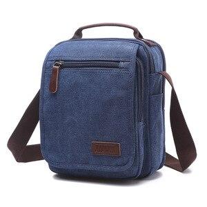 Image 4 - Z.L.D. New vertical canvas school bag high quality messenger bag military shoulder bag large capacity handbag small square bag