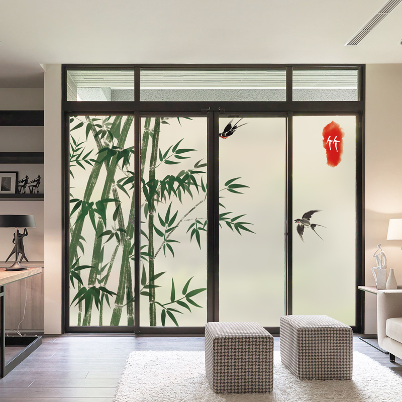 New Chinese Style Electrostatic Frosted Gl Film Paper Transpa Opaque Sliding Door Window Sticker