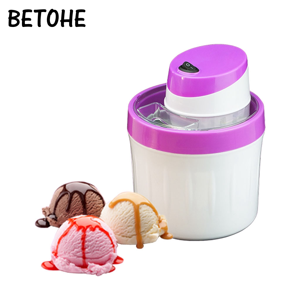 Fruit ice cream making machine electric MINI DIY icecream maker tool Automatic household for kids children 0.8L EU US plug