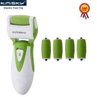KIMISKY Grün Glatte Elektrische Pediküre Fuß-datei Reinigung Peeling Fuß Pflege Werkzeuge 5 stücke Walzenköpfe PK Scholls