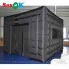 Goedkope opblaasbare evenement tent zwarte kubus opblaasbare opblaasbare tentoonstelling tent voor reclame