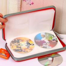 A Ausuky Storage CD Bag Portable 80 Disc Capacity DVD Case for Car Media -25