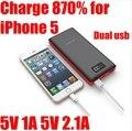 Pn969 20000 МАЧ Pineng Power Bank 20000 мАч Powerbank Тонкий порты Dual usb 2A для iPhone 5 Заряда 870% Дисплей Универсальный