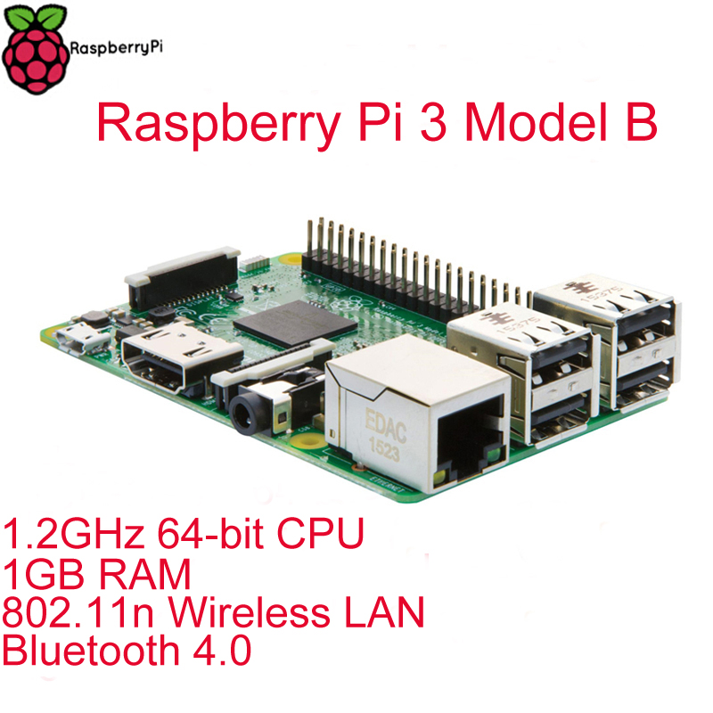 Original Raspberry Pi 3 Model B RPI 3 with 1GB LPDDR2 BCM2837 Quad Core Ras PI3