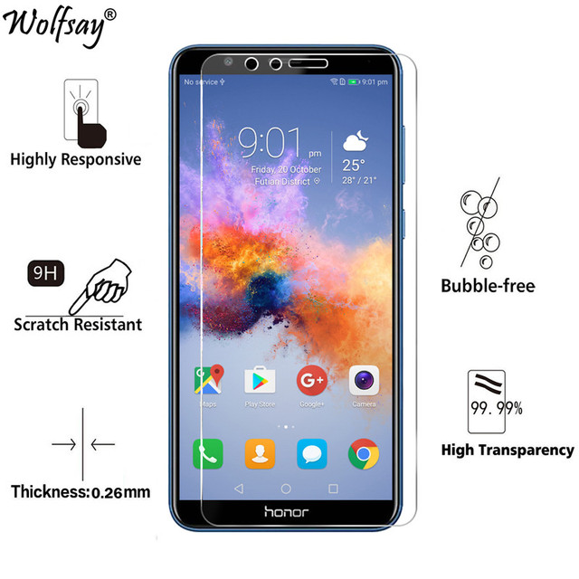 2pcs sFor Tempered Glass Huawei Honor 7X Screen Protector Ultra-Thin Protective Film...