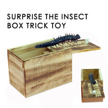 Dropshipping April Fool's Day Spoof Funny Scare Small Wooden Box Spider Scary Girls Gifts Jouet Petite Araignee En Bois Y*(China)