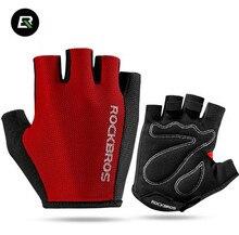 ROCKBROS Men Women Cycling Gloves Bicycle Sport Breathable Gloves Professional Racing Bike Equipment Half Finger Sponge