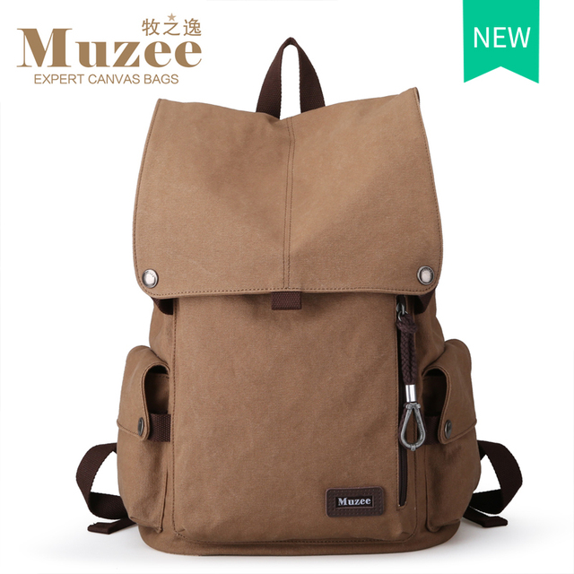2016 Muzee Nuevo Lienzo Macho Mochila de Viaje de Alta Capacidad Hombres mochila Escolar Mochila Bolsa de Ordenador Portátil de 15.6 pulgadas mochila