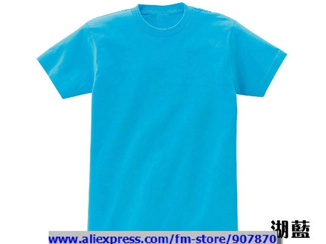 Sky Blue T Shirt Front And Back