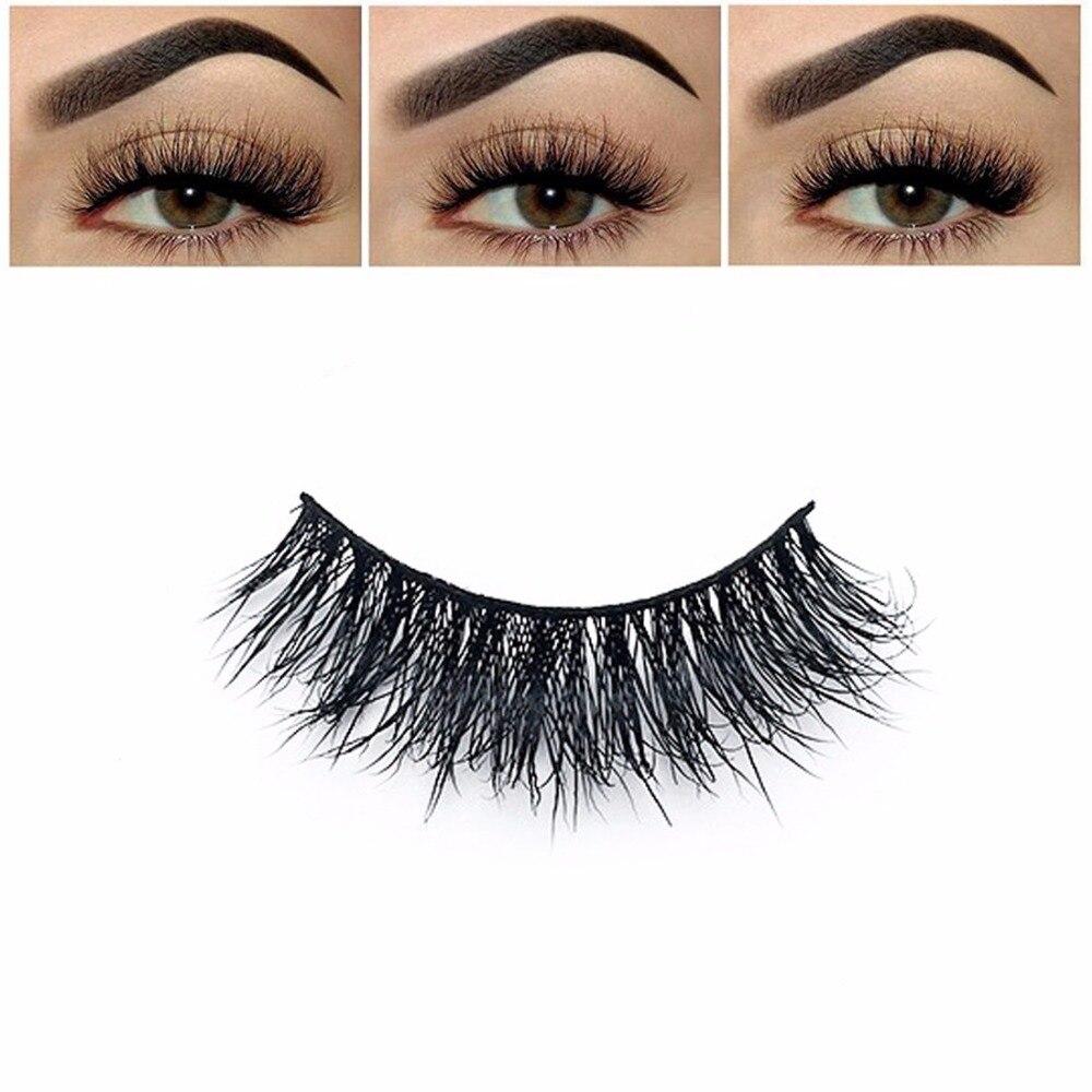 ธรรมชาติแต่งหน้า 3d Mink Lashes Eyelash Extension 1 คู่ขนตาขนตาปลอม Make Up