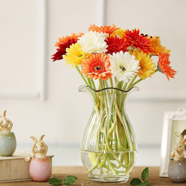 10 Pcs Single Head Silk Artificial Gerbera Daisy Flower Bouquet Wedding Party Home Decor TB Sale