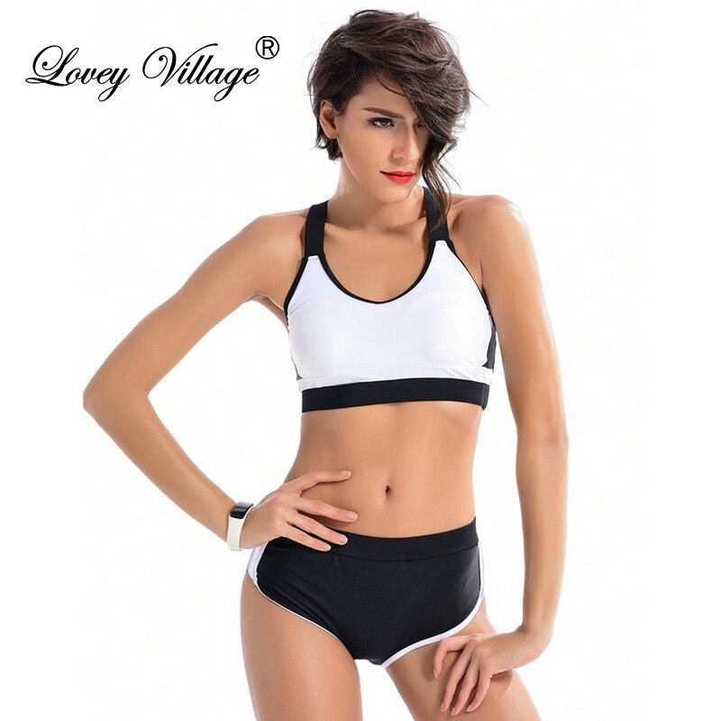 Hot 2017 Women Swimwear Sexy Two Pieces Tankini Swimsuit Women Swim Beach Sport Shorts Bathing Suit Bodysuit Plus Size White