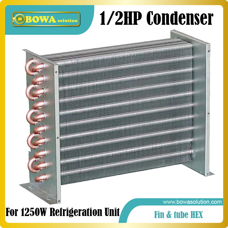 1/2HP blue fin &  copperTube heat exchanger suitable for bottle cooler,  beverage cooler and refrigeration cabinets 1560w monoblock refrigeration unit suitable for 10m3 beverage cooler or bottle cooler room