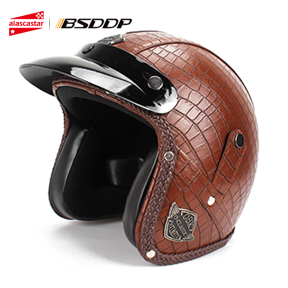 New Motorcycle Helmet Vintage Riding Open Face Chopper Cruiser Biker Scooter Touring Motocross Helmets Casco Moto Helmet motorcycle helmet harley retro helmets chopper vintage moto helmet open face old school casco scooter helmets