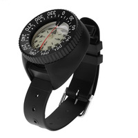 Outdoor Mini Wristwatch Design Lightweight Portable Waterproof Plastic Compass for Swimming Diving Water Sports Accessory
