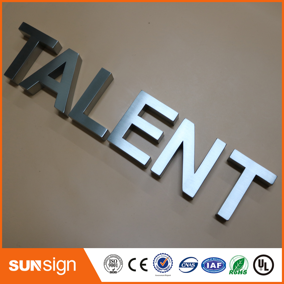 Custom Steel Letters Magnificent Custom Chrome Color Brushed Stainless Steel Letters Signin Inspiration