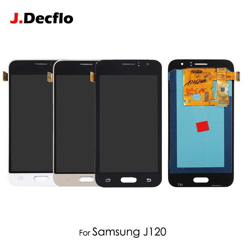 OEM AMOLED OLED pour Samsung Galaxy J120F J120M J120H J120 2016 LCD écran tactile numériseur assemblée remplacement