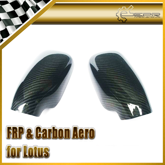 Car-styling For Lotus Elise Exige S2 Carbon Fiber Mirror Cover Glossy Fibre Finish Side Glass Exterior Racing Auto Body Kit Trim