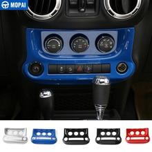 MOPAI ABS Auto Interruttore Condizionatore D'aria Centrale del Cruscotto Console Decorazione Della Copertura per Jeep Wrangler JK 2011-2017 Car Styling