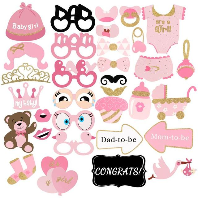 8743be5692cf Aliexpress.com   Buy BESTOYARD 33pcs Girls Baby Shower Birthday ...
