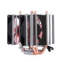 CPU Cooler Fan Heatsink 4 Heatpipe 2 Fans Quiet Heatsink Radiator Support FOR 775/115x/AMD CPU cooler