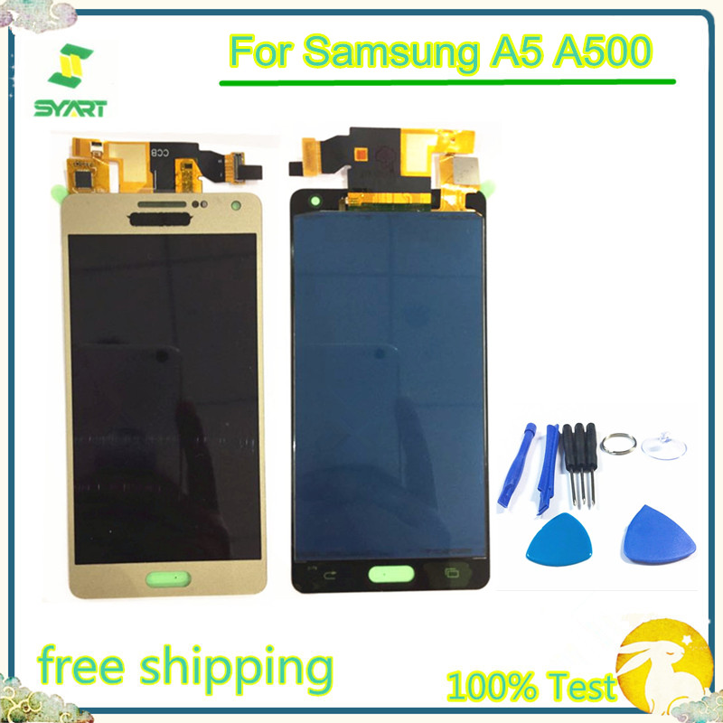 A5 TFT LCD Display Touch Screen Digitizer Sensor Assembly For <font><b>Samsung</b></font> Galaxy A5 2015 A500 A500F <font><b>A500FU</b></font> A500M A500Y A500FQ image
