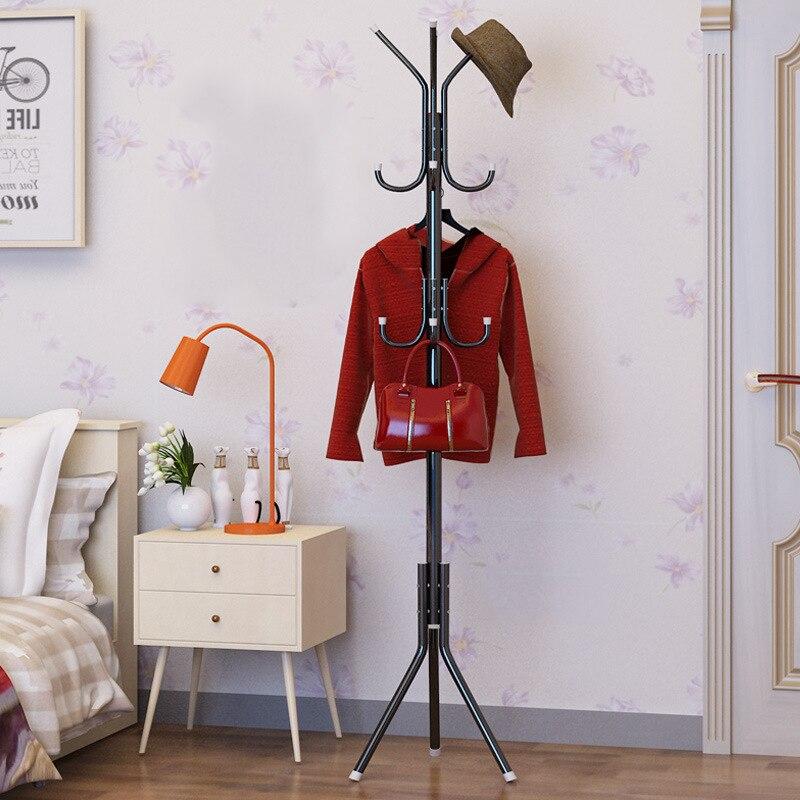 Actionclub Floor Standing Coat Racks Bedroom Clothes Hanger Living Room Clothing Hats Bags Hanging Storage Shelf Rack 32CM