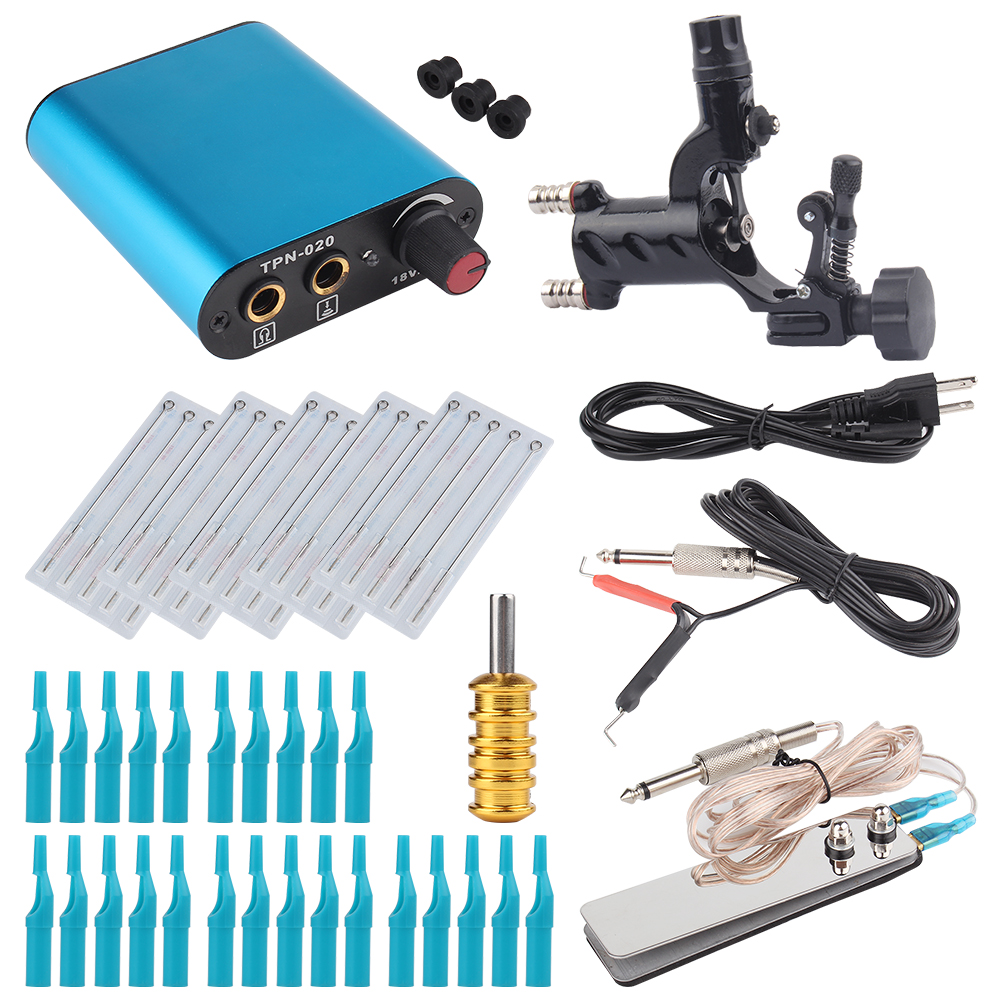 Tattoo Kit Black Dragonfly Rotary Tattoo Machine Shader & Liner With Tattoo Needle and Disposable Tattoo Tips Power Supply-in Tattoo Kits from Beauty & Health on Aliexpress.com | Alibaba Group