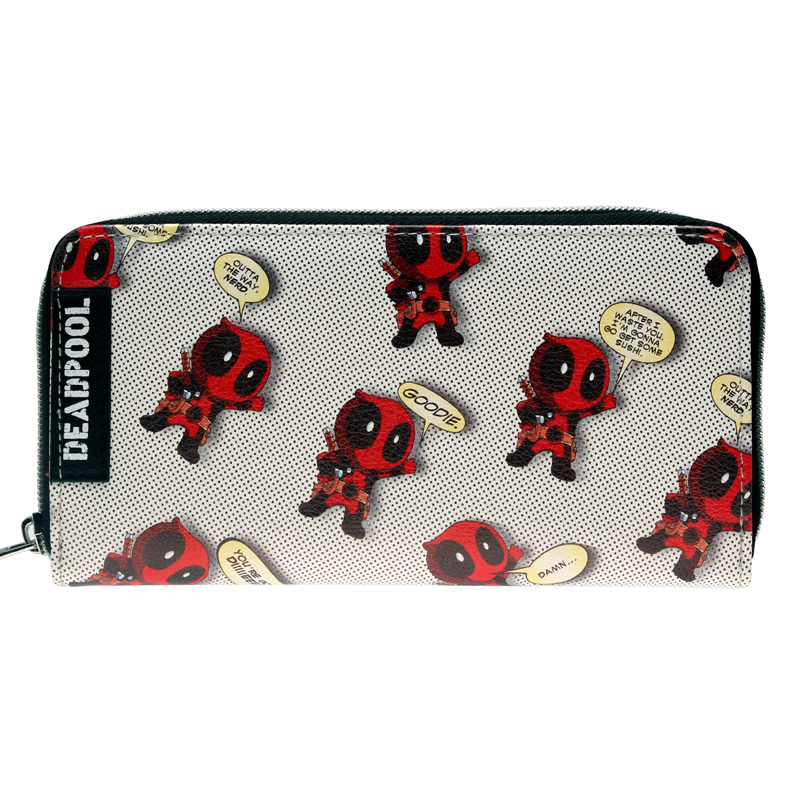 Deadpool Wallet Pu Long Fashion Women Wallets Designer Brand  Purse Lady Party Wallet Female Card Holder