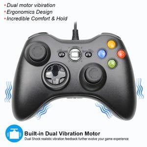 Image 3 - USB السلكية غمبد ل Xbox 360 تحكم المقود ل مايكروسوفت الكمبيوتر تحكم ل ويندوز 7/8/10