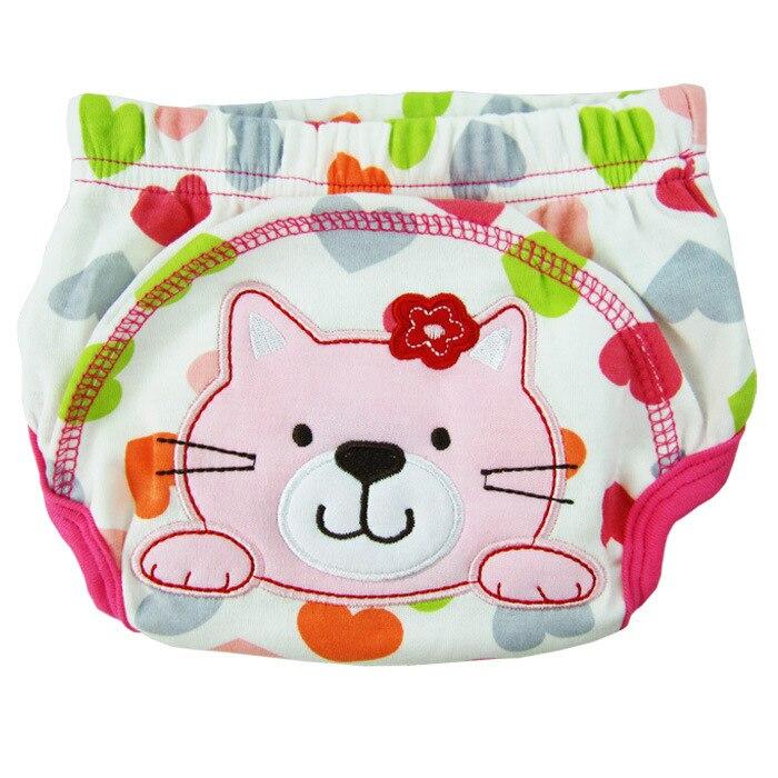 ; 3 шт./лот; непромокаемые детские тренировочные штаны с вышивкой - Цвет: cat