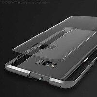 Original BOBYT Fashion Aluminum Metal Frame Tempered Glass Back Cover Luxury Hard Phone Cases For Samsung