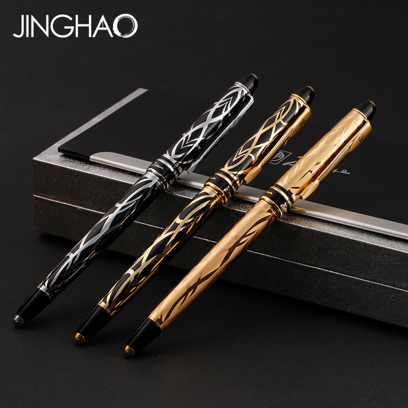 все цены на Fashion Pimio 901 Fountain Pen Luxury Gold/Gold-black/Silver -black Iraurita Nib 0.5mm Metal Ink Pens with an Original Gift Box